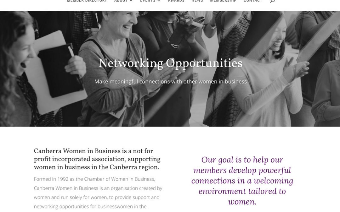 Canberra Women in Business Website