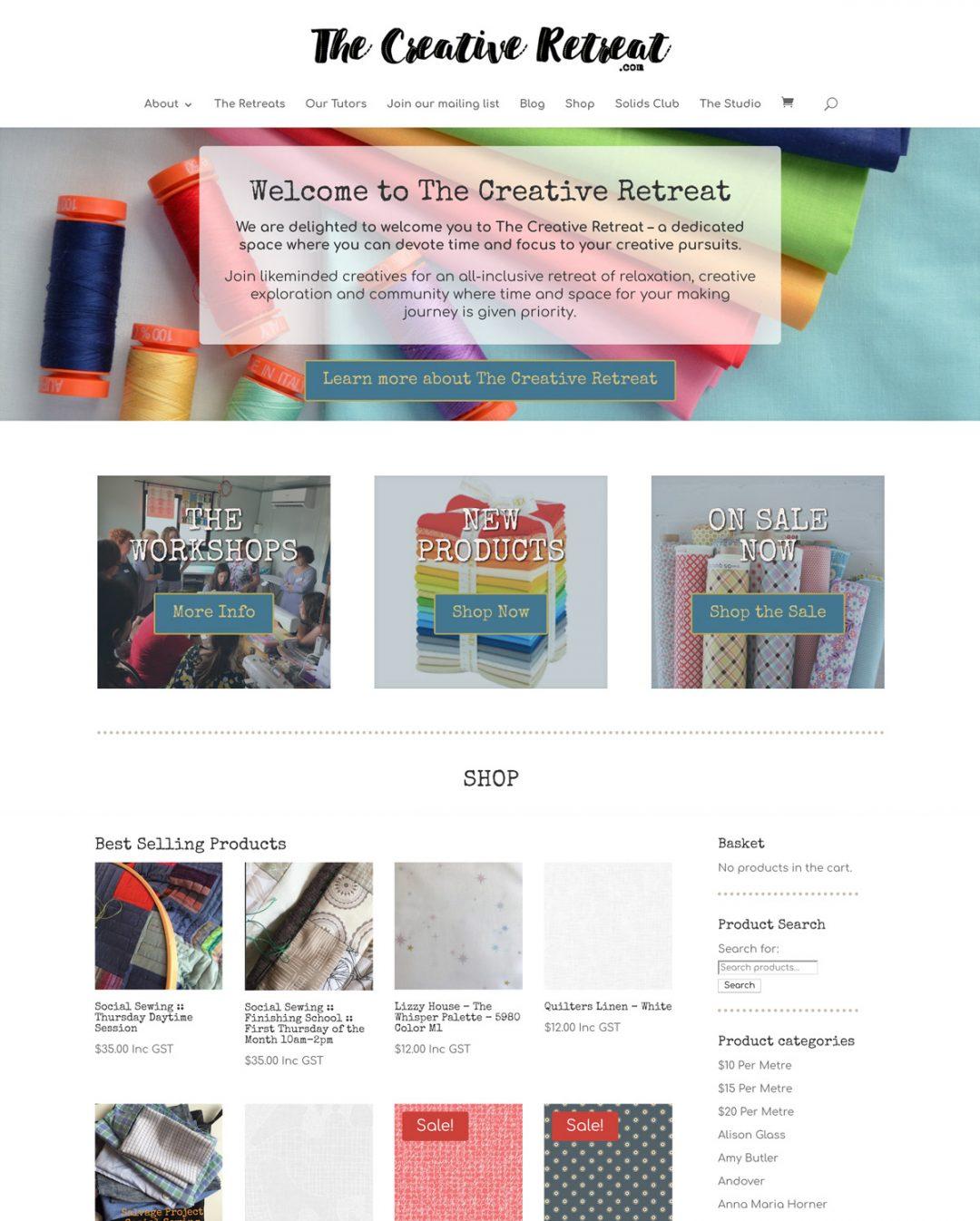 Creative Retreat Website
